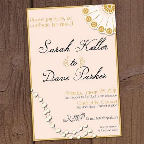 1920s Wedding Invitations