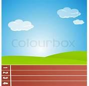 Illustration Ofracing Track  Stock Vector Colourbox