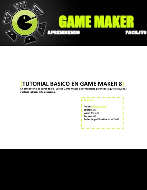 tutorial c game creando juegos con game maker 8