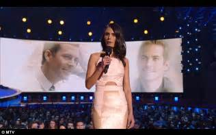 Hutch Co Jordana Brewster Leads Tribute To Paul Walker At Mtv Movie
