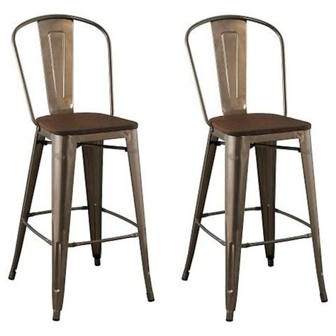 Franklin Low Back 24 Counter Stool by Carlisle 29 Quot Wood Seat Barstool Metal Set Of 2