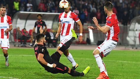 red star belgrade 0 1 arsenal giroud wondergoal maintains watch giroud s spectacular winner against red star goals