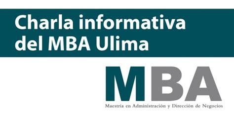 Posgrado Mba by Charla Informativa Mba Ulima Universidad De Lima