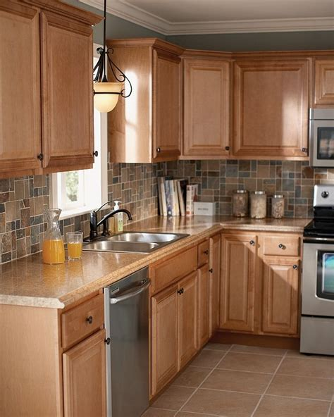 Light Brown Kitchen Cabinets Flipiy Com Light Brown Kitchen