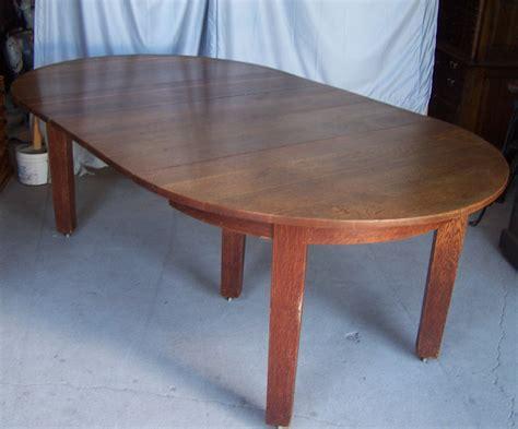 Mission Oak Dining Table Bargain S Antiques 187 Archive Gustav Stickley Mission Oak Dining Table With 3