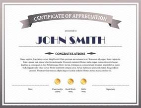 templates for certificates of appreciation 8 free printable certificates of appreciation templates