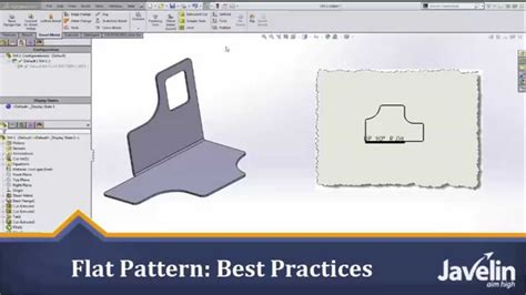 solidworks flat pattern drawing view solidworks sheet metal tutorial flat pattern best