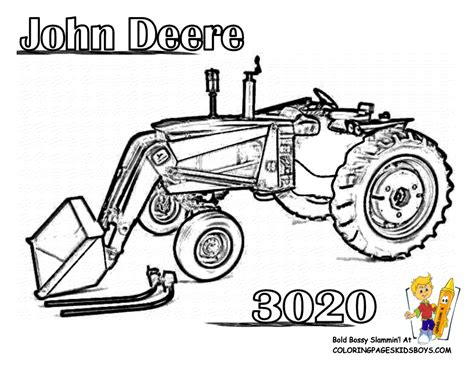free coloring pages of tractors to print