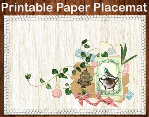 printable paper placemats items similar to printable paper placemat digital diy
