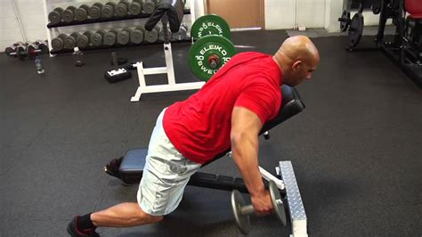 back raise bench chest supported bent over lateral raise youtube