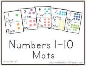 numbers 1 10 printable book free printable number mats contented at home