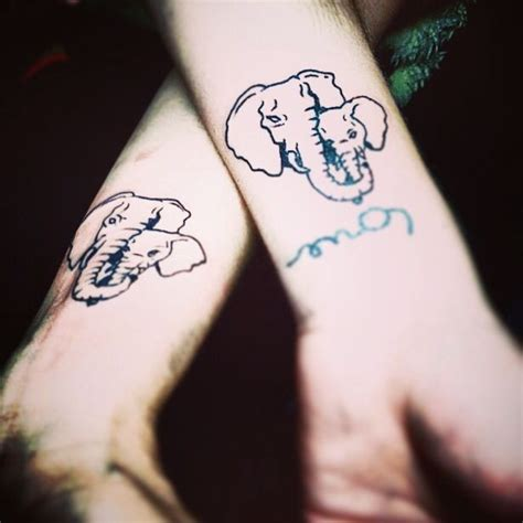 matching elephant tattoos me and my wanna get matching elephant tattoos and i