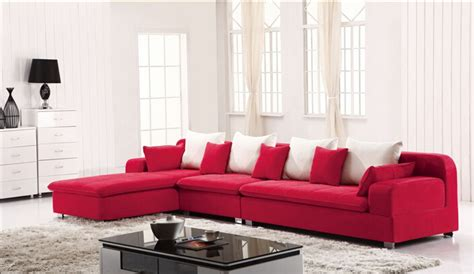 red and white sectional lizz furniture sectional fabric l shape corner sofa red