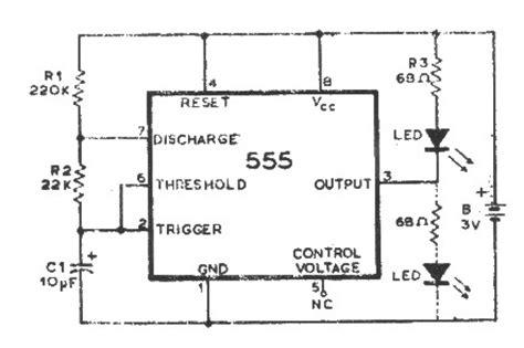 555 chip diagram integrated circuits