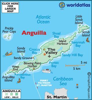 anguilla map / geography of anguilla / map of anguilla