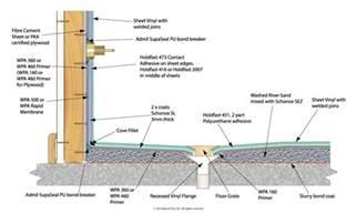 Floor Wax Applicator by Waterproofing Unenclosed Shower Vinyl Wall And Floor