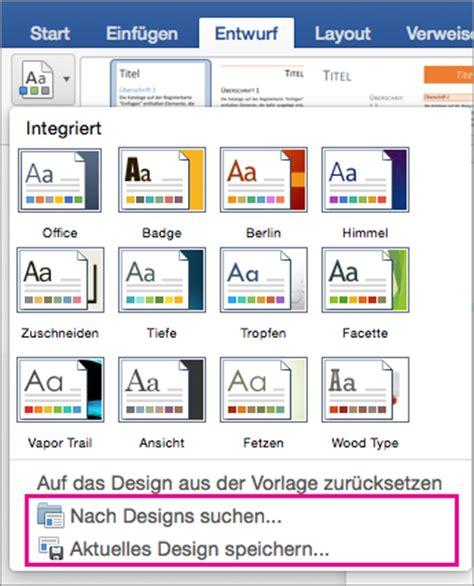 Word Design Vorlagen ändern 196 Ndern Und Speichern Eines Designs In Word 2016 F 252 R Mac Word For Mac