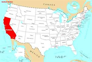california on the map where is california located mapsof net