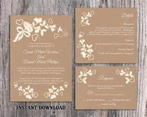 diy wedding invitations templates diy lace wedding invitation template set editable word
