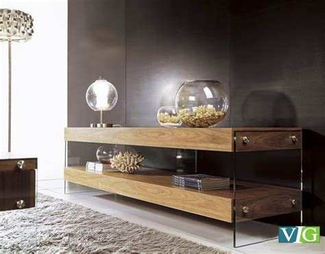 modrest aura modern walnut floating tv stand tv media