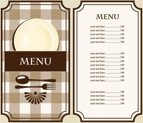 Cafe Menu Template Free by Set Of Cafe And Restaurant Menu Cover Template Vector Free