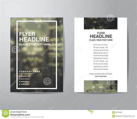 simple flyer template simple blur background brochure flyer design layout