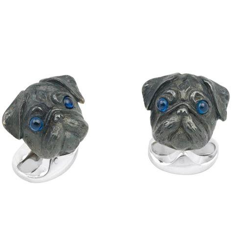 pug cufflinks sterling silver deakin and francis sterling silver pug cufflinks at 1stdibs