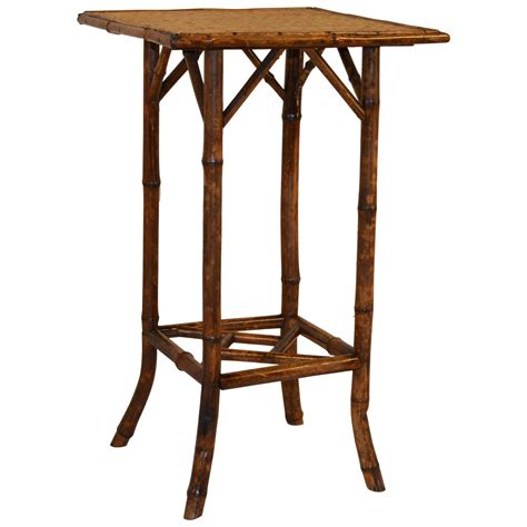Bamboo Side Table Late 19th Century Tortoise Bamboo Side Table For Sale At 1stdibs