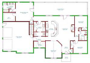 single level floor plans traditional house plan single level traditional houseplan