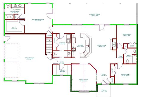 5 Level Split Floor Plans by Traditional House Plan Single Level Traditional Houseplan