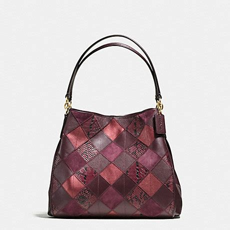Coach F57510 Tote Snake Embossed Patchwork coach f55535 phoebe shoulder bag in metallic patchwork