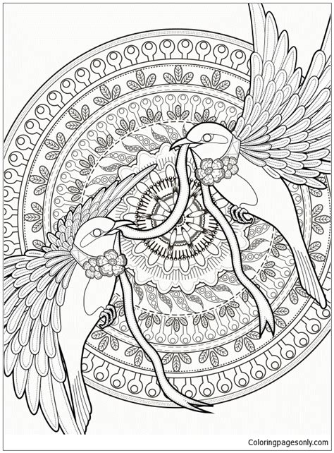 bird mandala coloring pages birds mandala coloring page free coloring pages online