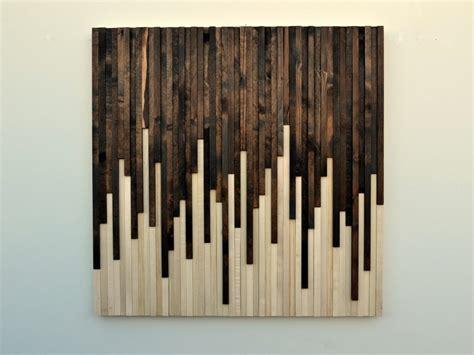 stick wall wall art design wooden wall art square cream black