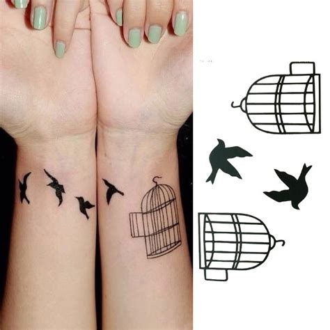 small bird cage tattoo 27 dazzling bird cage wrist tattoos