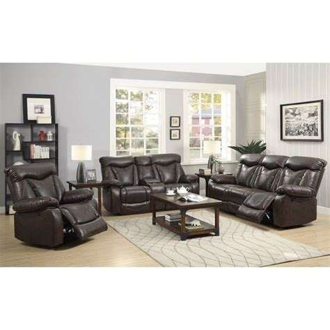 motion living room furniture coaster zimmerman faux leather motion reclining sofa set