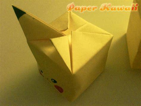 pikachu origami cube pikachu origami cube paper kawaii