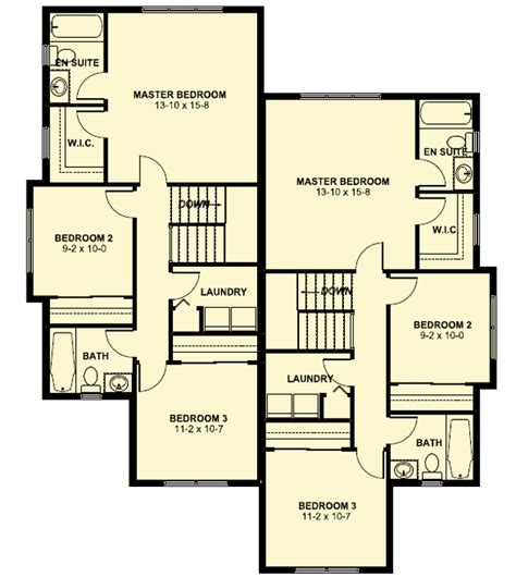 narrow lot duplex floor plans plan 67718mg duplex house plan for the small narrow lot