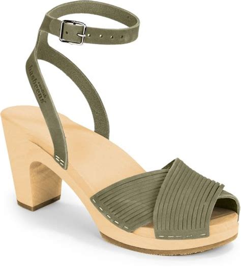 swedish clog sandals swedish hasbeens strappy clog sandals in gray
