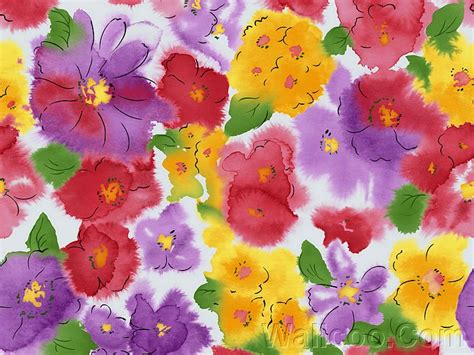 flower pattern for painting colorful flower patterns watercolor effect 3 wallcoo net
