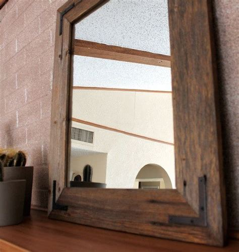 Wood Framed Bathroom Mirrors Reclaimed Wood Mirror 18x24 Bathroom Mirror Wood Mirror Framed Mirror Hurd And Honey