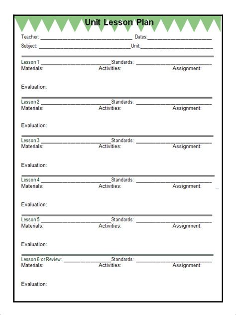 29 images of unit plan template 5e s teacher infovia throughout