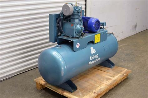 lot 73 kellogg amerivan air compressor wirebids