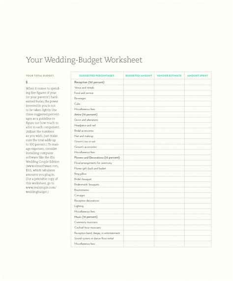 printable wedding checklist and budget 9 best images of printable budget form wedding printable