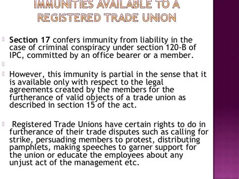 section 120 ipc the trade unions act 1926 ppt final presentation ues