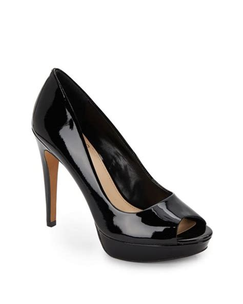Vince Camuto Lottie Peep Toe by Vince Camuto Janeese Patent Leather Peep Toe Pumps In