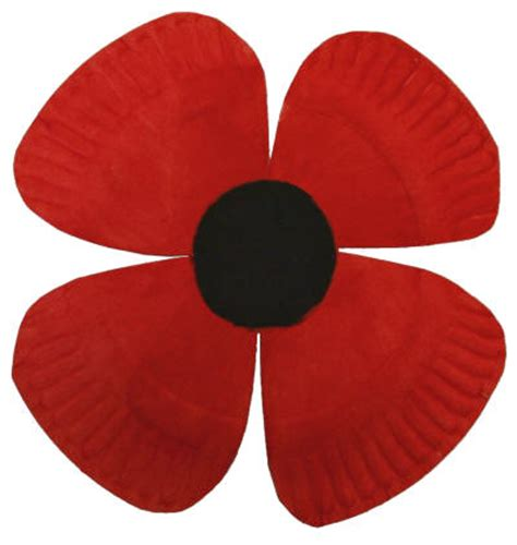 paper plate poppy craft