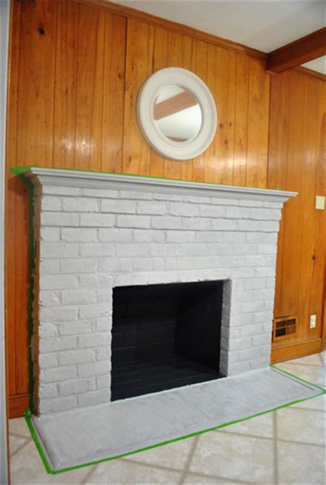 Painting Over Fake Wood Paneling how to prep prime and paint a brick fireplace young
