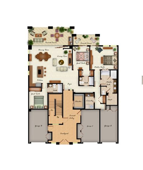 3 bedroom design layout kolea floor plans