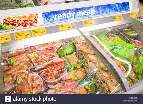 stay away from the frozen food section ready meals in the frozen food section at aldi supermarket