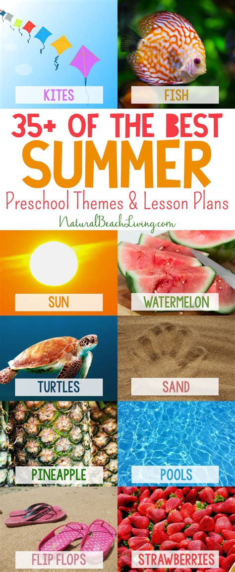 summer themes 200 of the best preschool themes and lesson plans